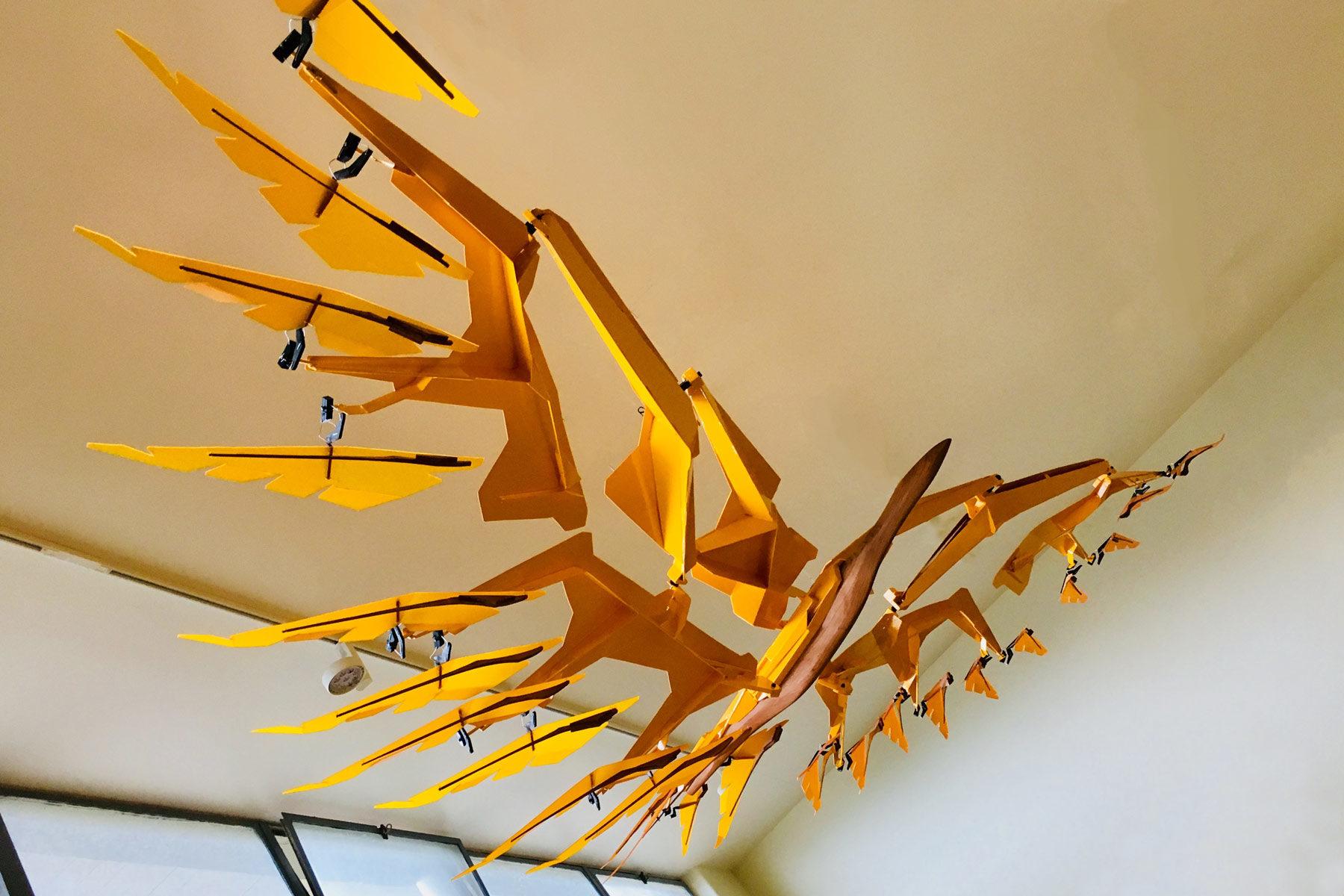 "Kinetic Sculpture ""Flight"" by Ben Trautman"